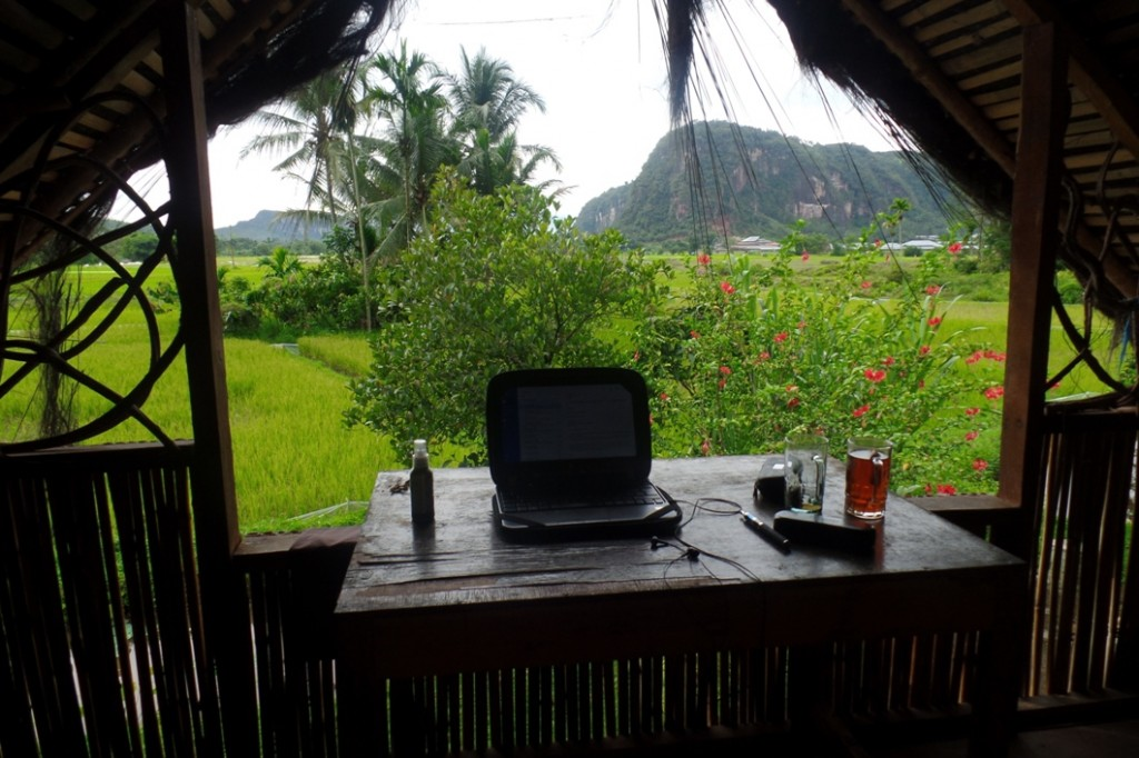 Workstation in the Harau Valley in Sumatra on 2 December 2014 Photo © Tej Turner