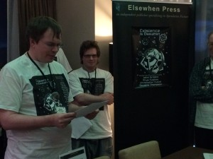 Edwin Hayward reading from Ambrosia at the Existence is Elsewhen launch