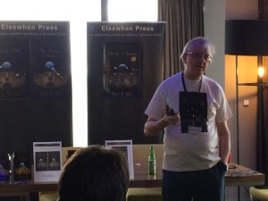 Peter R. Ellis launching Unity of Seven at Mancunicon