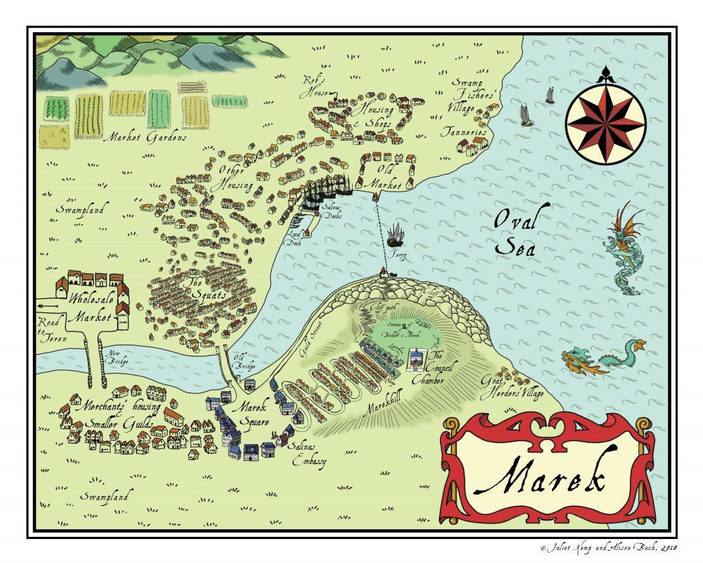 Map of Marek © 2018, Juliet Kemp and Alison Buck
